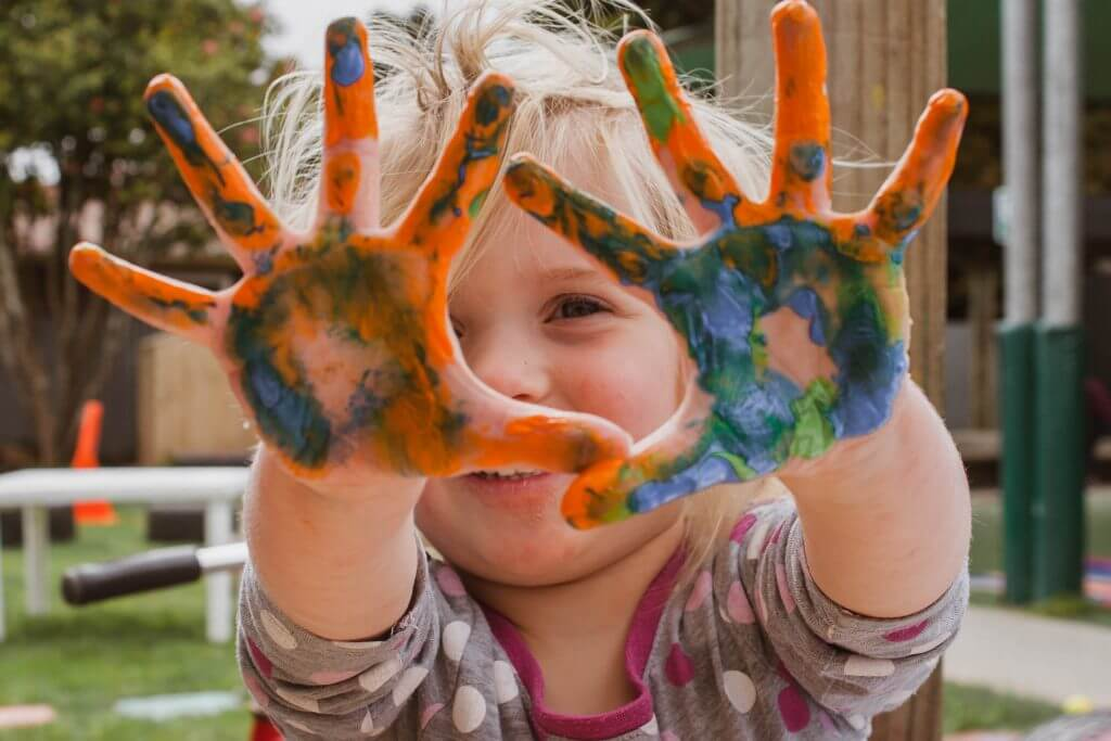 Finger Painting Child Therapy
